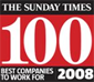We came #71 in Sunday Times Best Companies to work for 2008