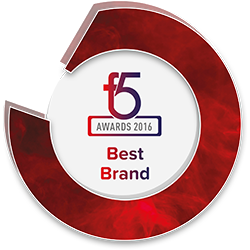 Best Brand 2016 F5 Awards