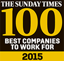 23rd Best Company To Work For - Sunday Times